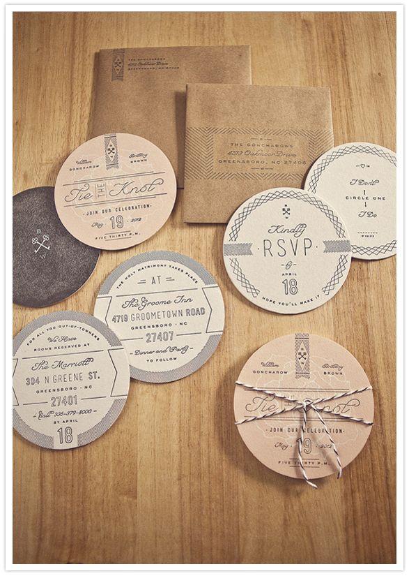 custom parchment invitations and circular invite inserts