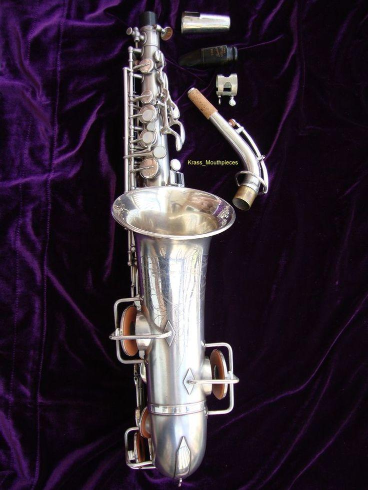 1925 Buescher True Tone Silver-Plate alto saxophone ...