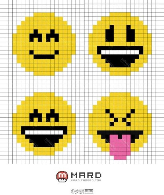 Emoji Knitting Needles : Emoji perler bead patterns hama beads pinterest