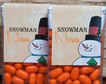 Tic Tac Snowman Poop Printable Party by DesignsbyLindaNee