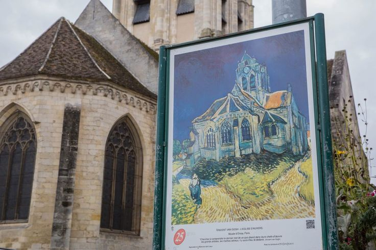 Would you be curious to see the village where Van Gogh lived for only two months and created more than 80 (!) paintings and 100 drawings? It is just one hour away fro Paris !  Read article on our blog.  #vangogh #impressionist #painter #art #artlovers #cathedral #auverssuroise #village #lifestyle #painting #artist #famousartist