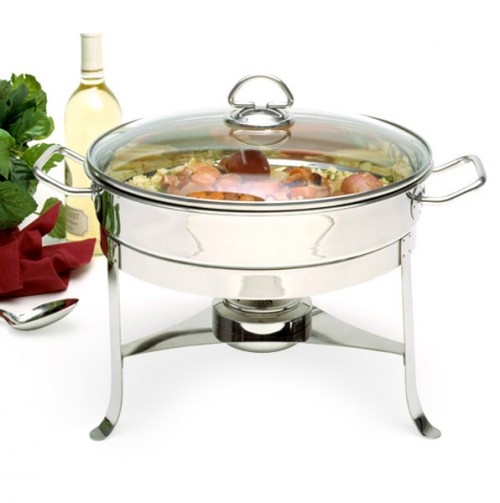 Norpro 6 Qt.Stainless Steel Chafing Dish with Lid - Entertaining Essentials - Events