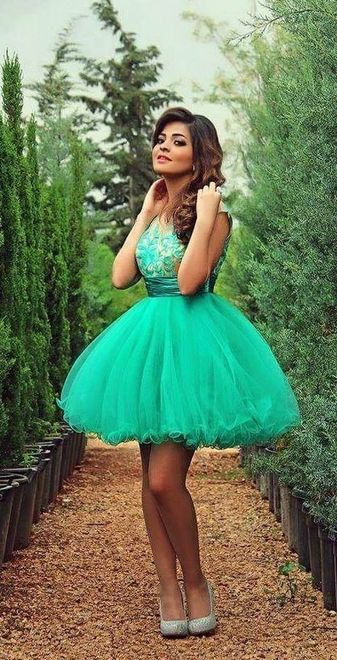 Ball Gown Appliques Short Prom Dresses,Homecoming Dress, Homecoming Dresses On Sale,XS52