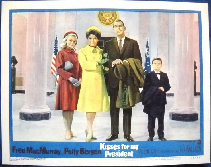 KISSES FOR MY PRESIDENT LOBBY CARD #1 Polly Bergen Fred MacMurray 1964