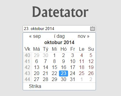 Datetator – jQuery Datepicker Plugin #jQuery #datepicker #date #calendar #input
