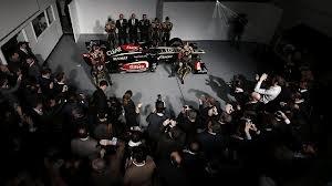 @Lotus F1 Team launch their beautiful new F1 car for the 2013 season at their  Enstone HQ