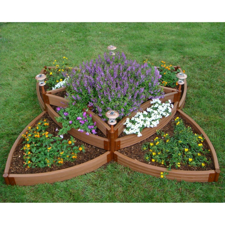 Frame-It-All Resin Sunburst Resin Raised Garden Bed