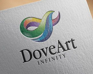 Logo Design - DoveArt Infinity This stunning logo design was created by AMCstudio