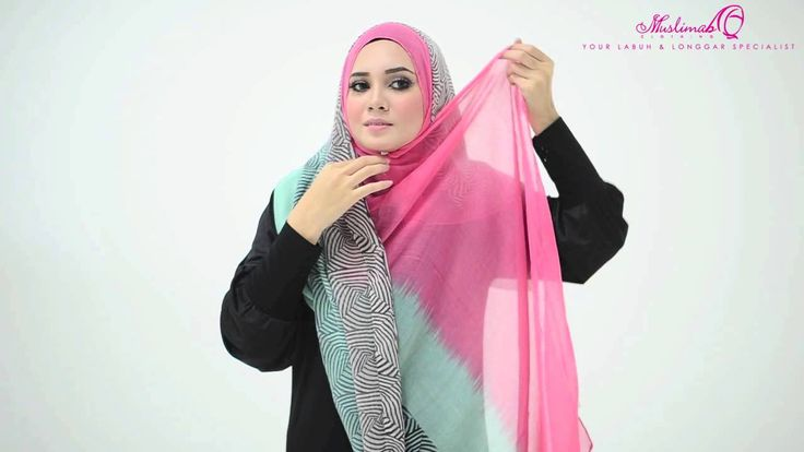 Tutorial : 4 Ways to Style Wide Shawl by Muslimah Clothing Couture