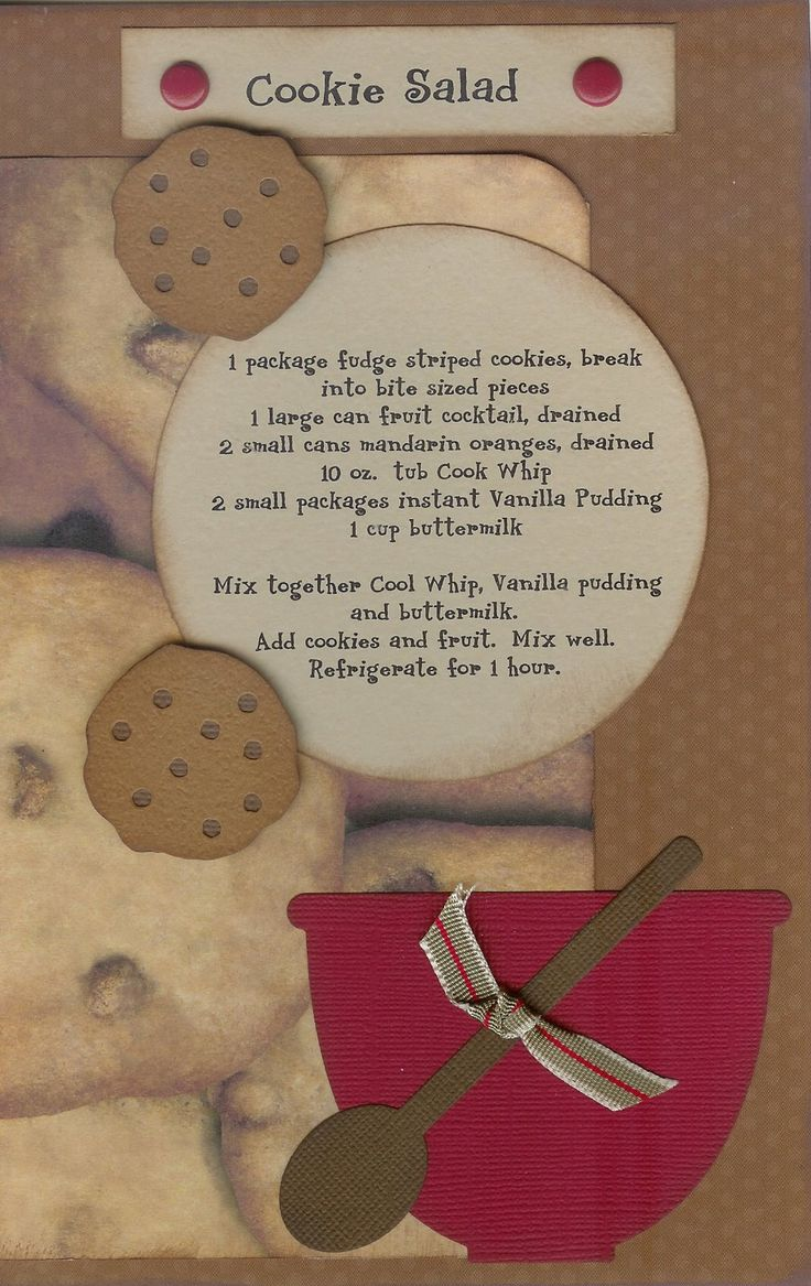 How to scrapbook recipes ideas - Recipe Kit 17 Jpg Image Recipe Scrapbookcookbook Ideasdisney