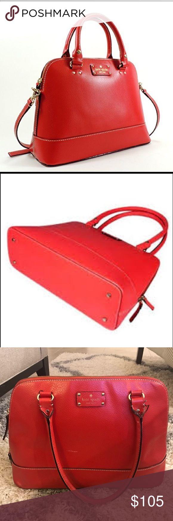 Kate Spade Wellesley Rachelle handbag Kate Spade Wellesley Rachelle red handbag. Little tear, as shown in pictures - price reflects. kate spade Bags