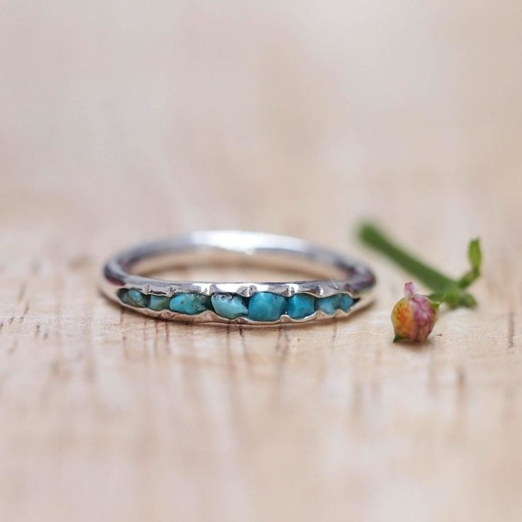 Turquoise Birthstone Ring // Hidden Gems - Gardens of the Sun Jewelry