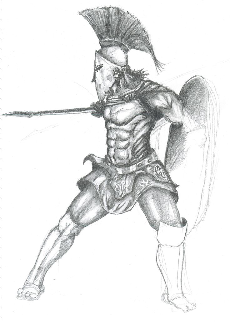 Viking Warrior Tattoo Graphic · Hawaiian Warrior Tattoo Drawing