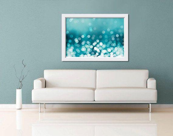 abstract light photography fine art nautical decor bokeh photo 11x14 12x18 16x24 20x30  teal art print waves ocean beach water summer aqua