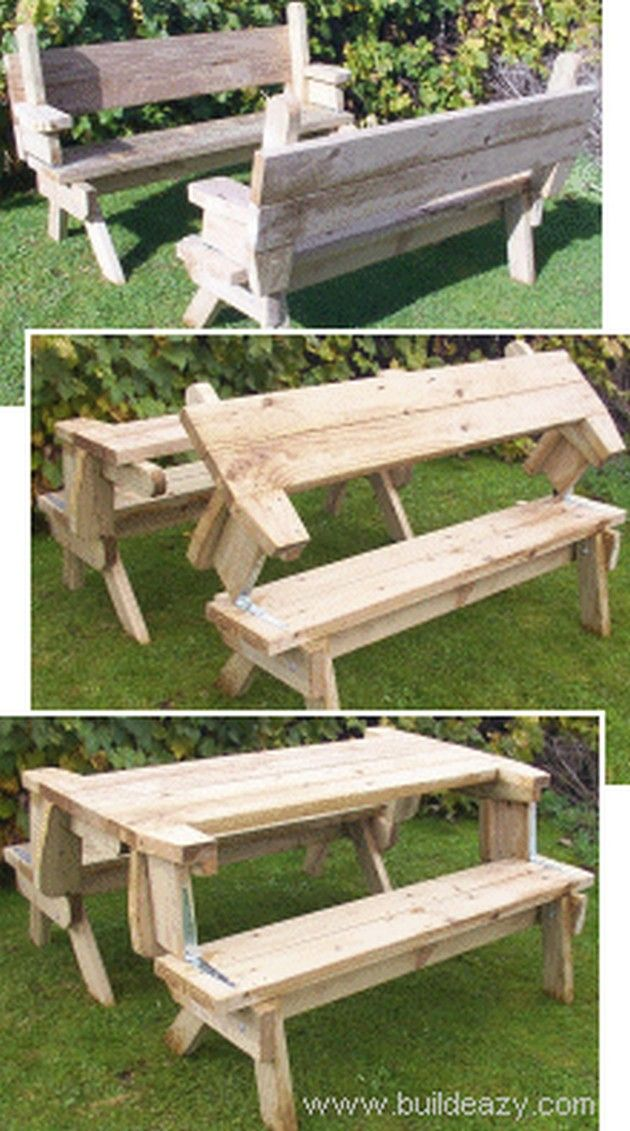 picnic table bench set 1 how to make a folding picnic table dyi project