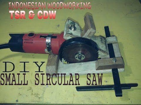 DIY SIRCULAR SAW FROM ANGLE GRINDER - YouTube