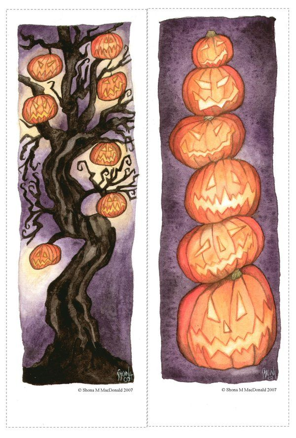 halloween bookmarks by pebblepixie on deviantart - Halloween Book Marks