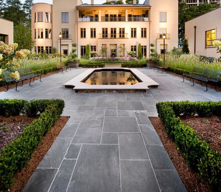 Shown Is The Interior Garden Of Mandarin Oriental Residences In Buckhead Neighborhood Atlanta
