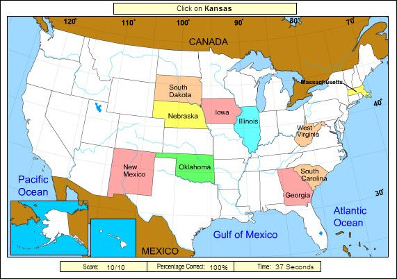 printable map of usa jigsaw puzzle see more free online game for practicing state locations state name is announced and player must click