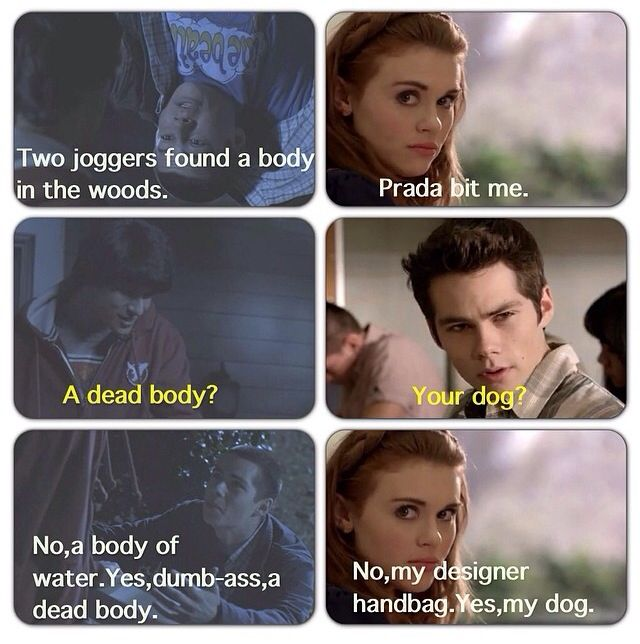 Stiles & Lydia are basically the same person lol . Stydia . Teen Wolf .
