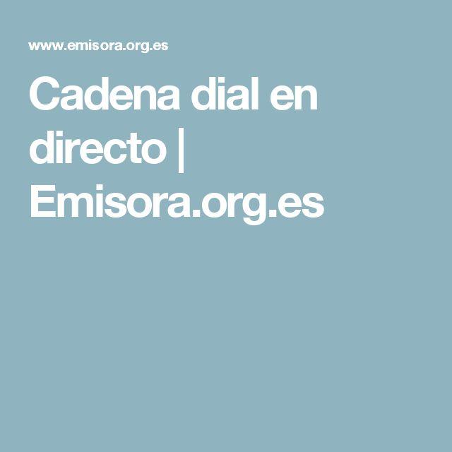 Cadena dial en directo | Emisora.org.es