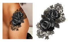 Hip black&white roses with sexy black lace background. Designer: Andrija Protic