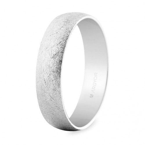 Alianza oro blanco efecto hielo (5b505h) de nuestra colección de alianzas de boda acabados especiales