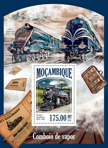 MOZ 13525 bSteam Trains, (Canadian Pacific 2816, 1930).