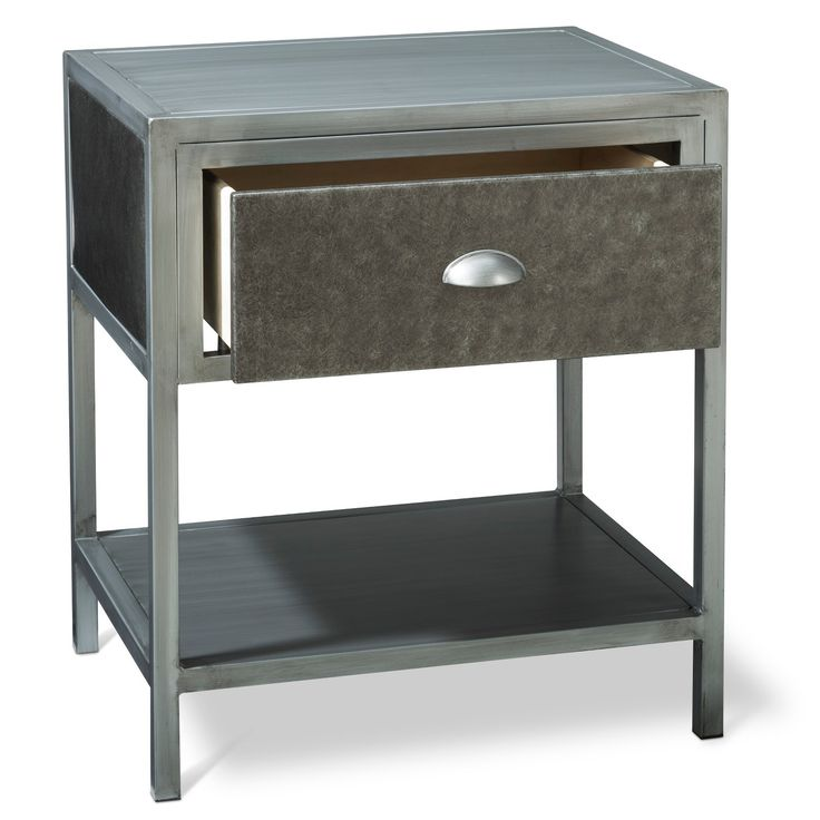 This Sleek And Rustic Industrial Table Would Look Great In: 25+ Best Ideas About Metal Nightstand On Pinterest