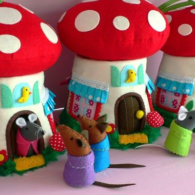I love these because they are toadstools, but I also absolutely LOVE this idea for a fun gift for a little one.