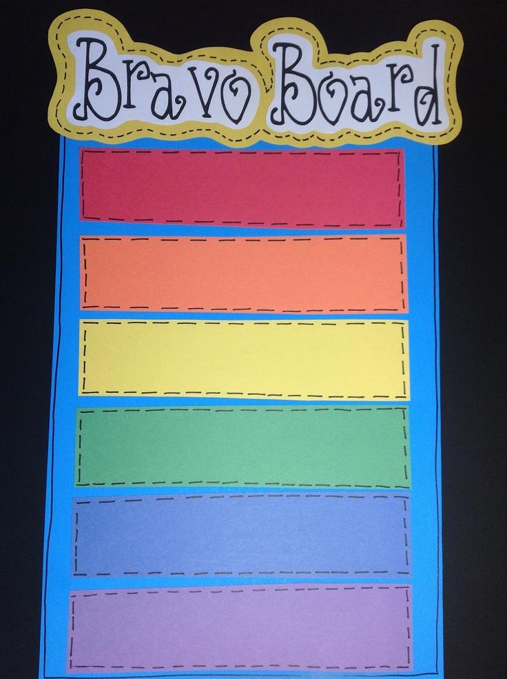 Ms. Jennifer's Kindiekins & Looping Firsties: Bravo to the Bravo Board idea! :)