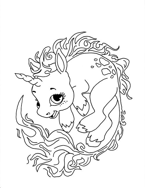 Printable Unicorn Coloring Pages For Adults : 3701 best cool coloring pages images on pinterest