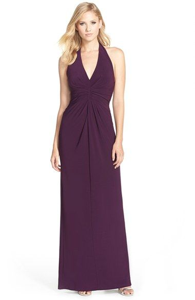 Adrianna PapellJersey Halter Gown available at #Nordstrom