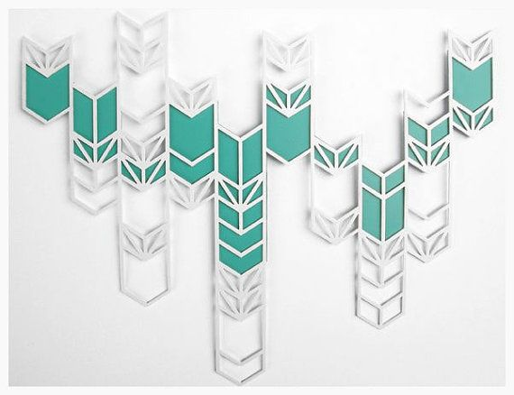 Chevron Curtain Wall Hanging by sfettingis on Etsy