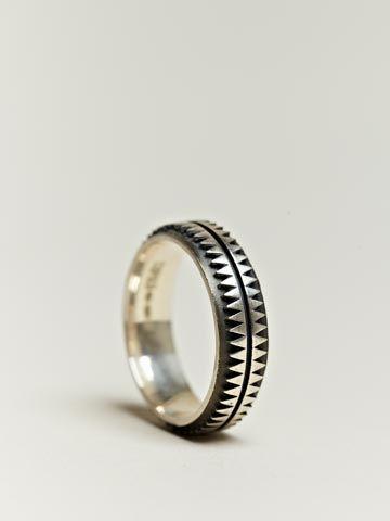Copula Men's Exclusive Sterling Silver Aztec Ring