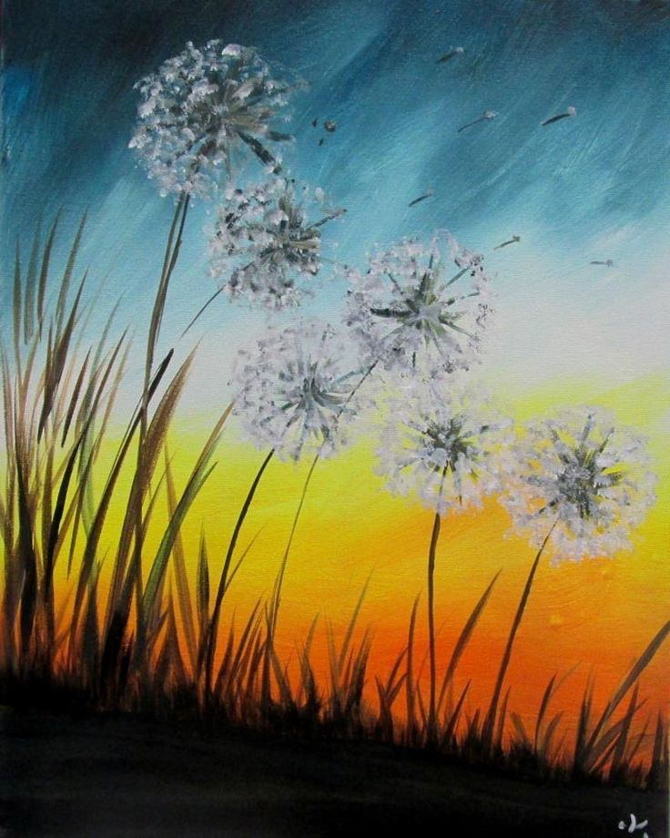 25 Best Ideas About Green Paintings On Pinterest: 25+ Best Dandelion Painting Ideas On Pinterest