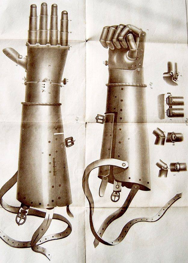 16th century iron prosthetic hand | 21 Antique Limbs For The Early Amputee