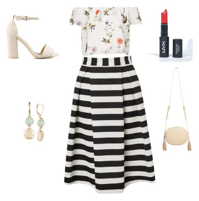 """Stephanie's outfit for going out"" by maggiesitek on Polyvore featuring Lipsy, Topshop, Nly Shoes, MANGO and Lonna & Lilly"