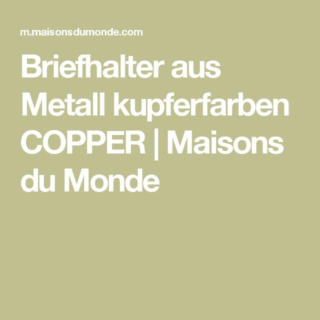 Briefhalter aus Metall kupferfarben COPPER | Maisons du Monde