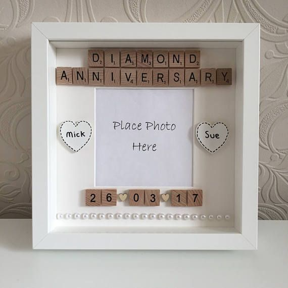 Personalised Diamond Wedding Anniversary Frame Anniversary