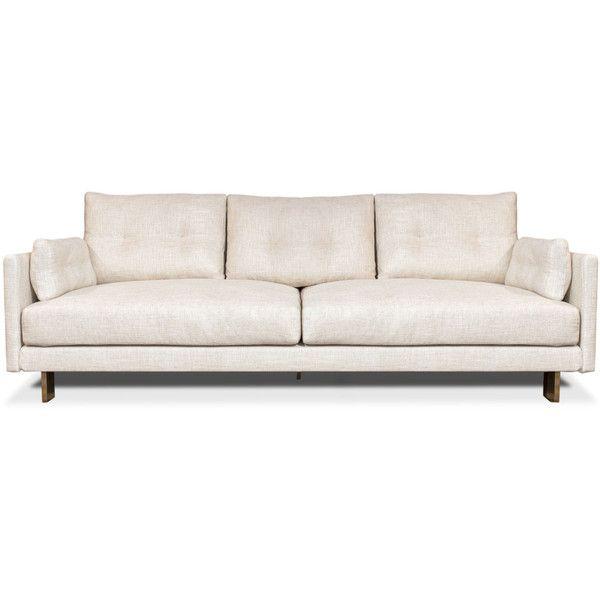 Jonathan Adler Malibu Sofa (€2.825) ❤ liked on Polyvore featuring home, furniture, sofas, sofa, dark gray couch, slipcover furniture, charcoal grey sofa, jonathan adler and charcoal couch
