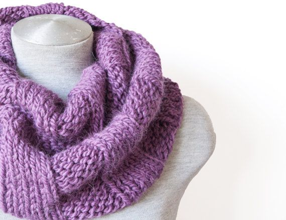 Knitted alpaca infinity scarf - Oversized scarf   £30