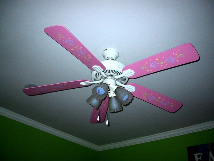 Stenciled Ceiling Fan Girl s Room Home Decor