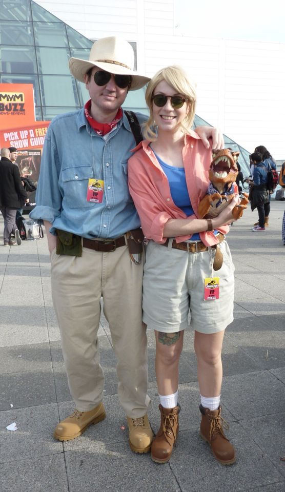 Cosplaying as Alan Grant and Ellie Sattler from Jurassic Park at MCM Expo in London