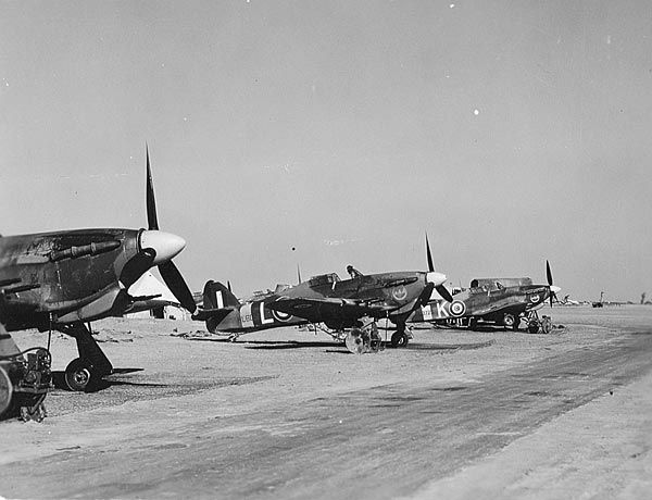 Wing Commander Dereck Kain mentioned in Spitfire the ANZACs, also handled the delivery of Hawker Hurricanes to Egypt during the later part of WWII. A future book will include a series of photos of the Egyptian Hurricanes.