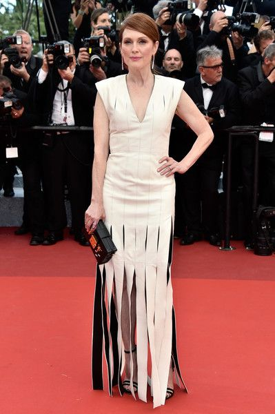 "Julianne Moore attends the ""Money Monster"" premiere during the 69th annual Cannes Film Festival at the Palais des Festivals on May 12, 2016 in Cannes, France."