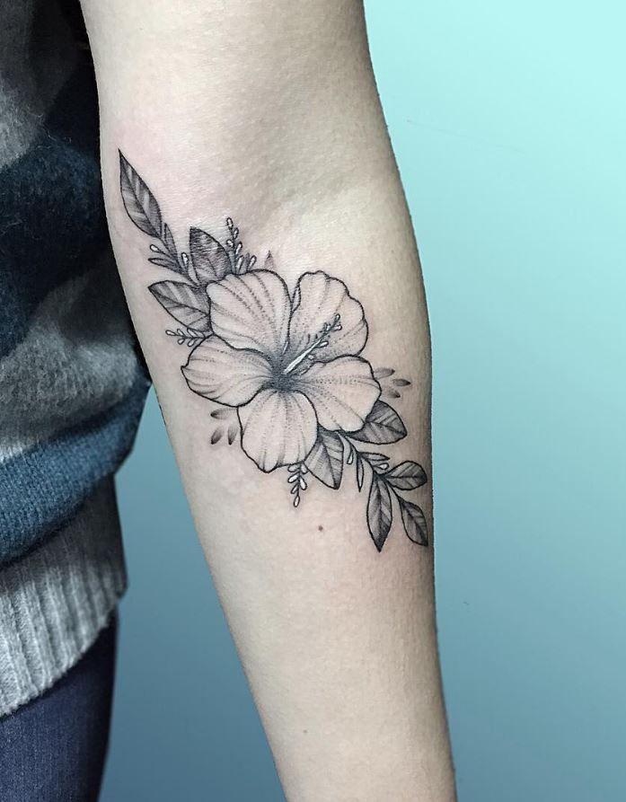 60 Black Gray Flower Tattoos By Anna Bravo List Inspire Hibiscus Tattoo Tropical Flower Tattoos Tattoos