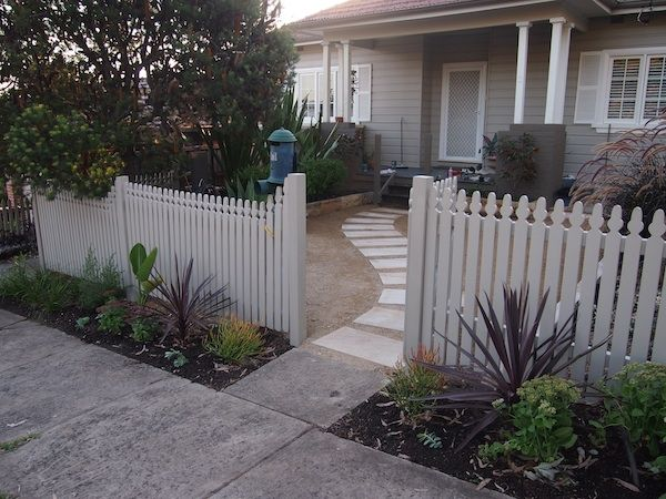 garden planted infront of fence - after image (Sydney)