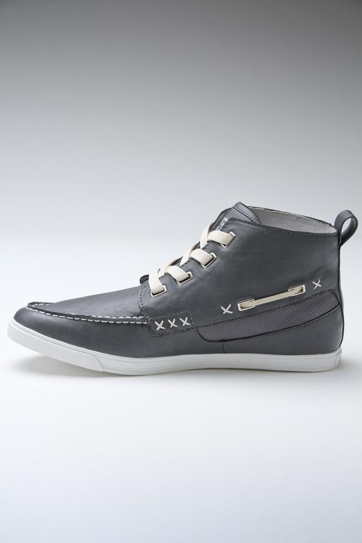 High top boat shoe