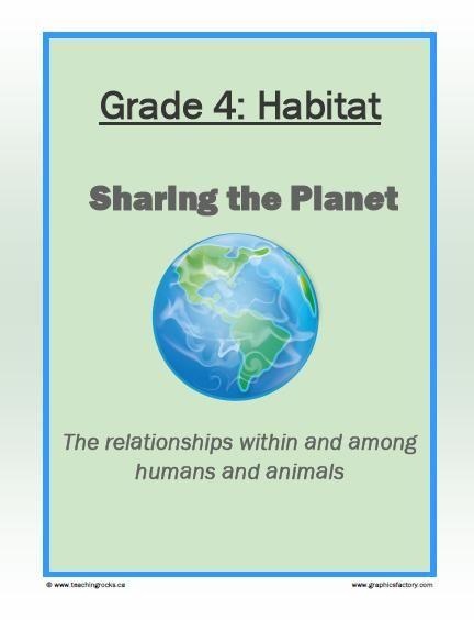 Grade 4 – Habitat : Sharing the Planet...Cross-Curricular Activities to Teach Habitats! FREE! www.teachingrocks.ca